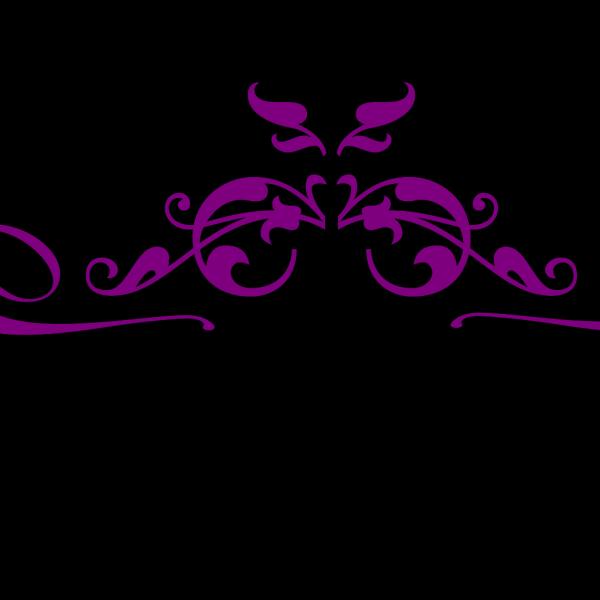 Purple Swirl Paisley PNG Clip art