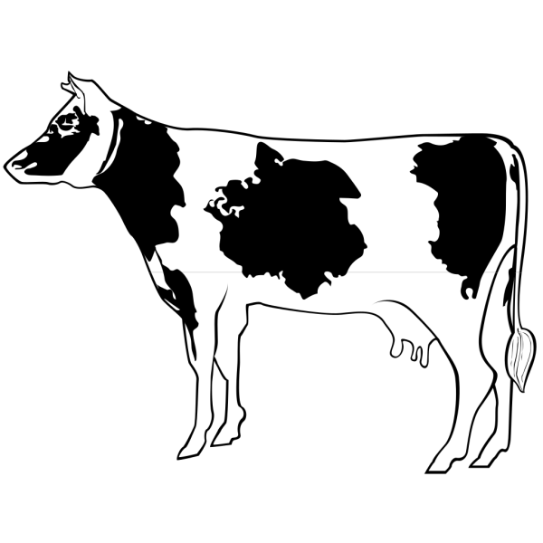 Cow Side View Art PNG Clip art