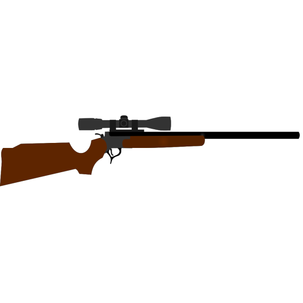 Huting Rifle With Scope PNG images