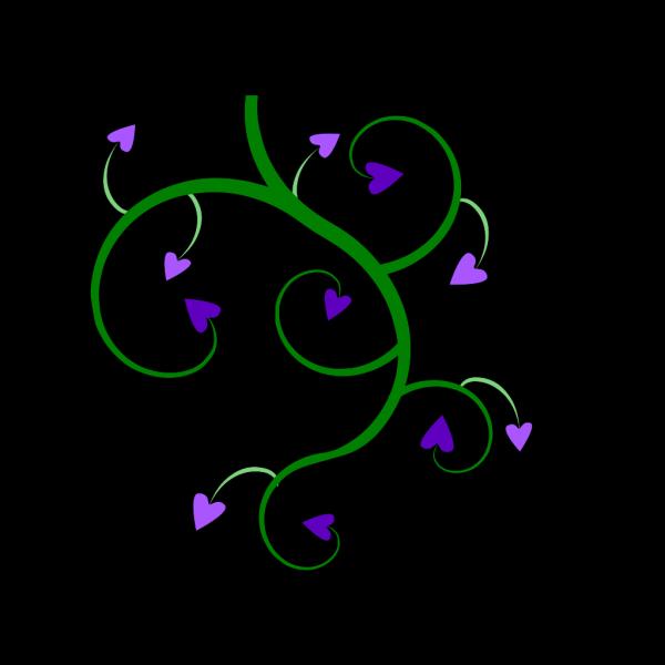 Heart Vine Green PNG Clip art