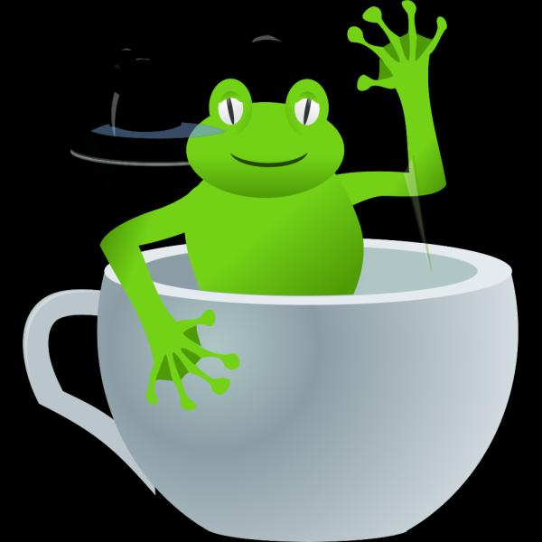 Frog In Tea Cup