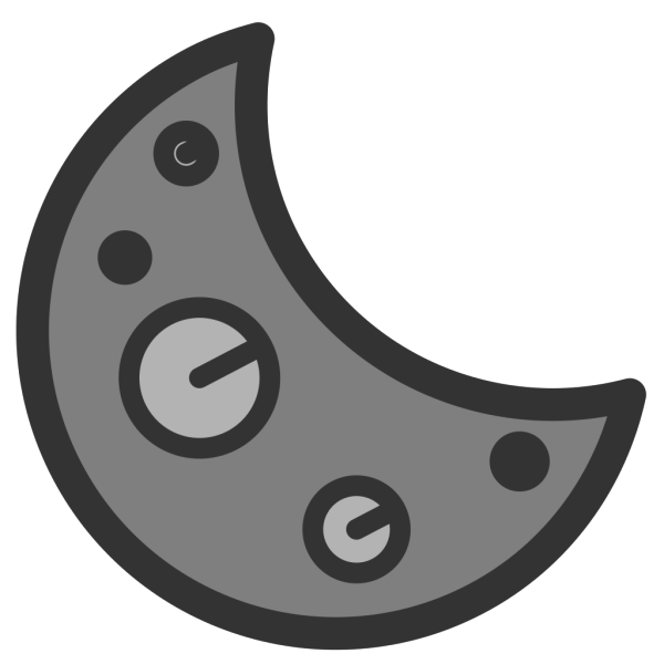Golden Crescent Moon And Star PNG Clip art