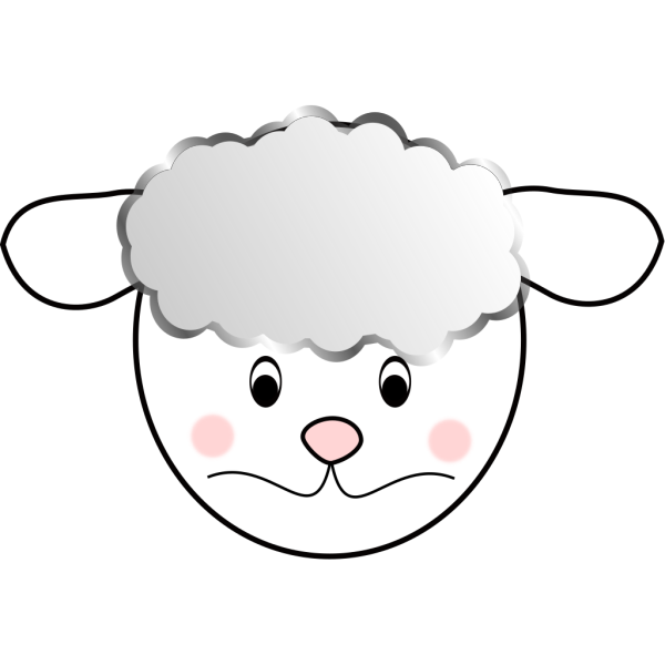 Sad Sheep PNG Clip art