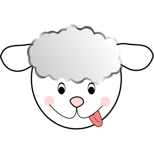 Smiling Bad Sheep PNG images