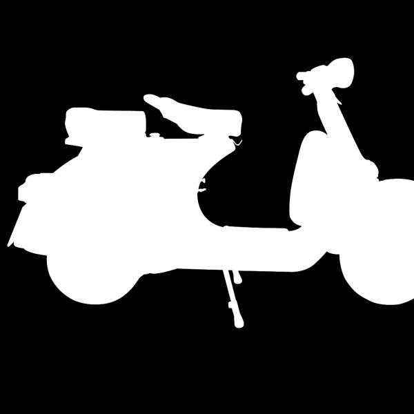Vespa Scooter Remix PNG Clip art