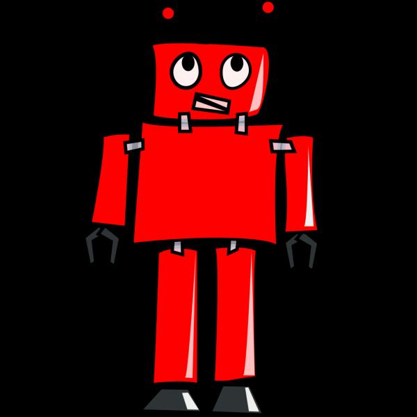 Red Robot PNG Clip art