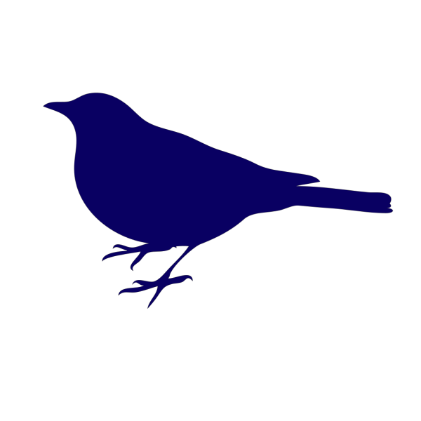 Bird Silhouette Small Black PNG Clip art