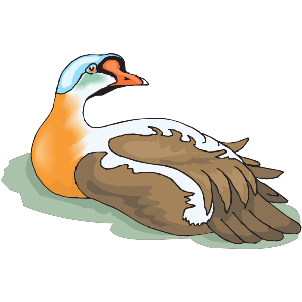 Goose Looking Back PNG Clip art