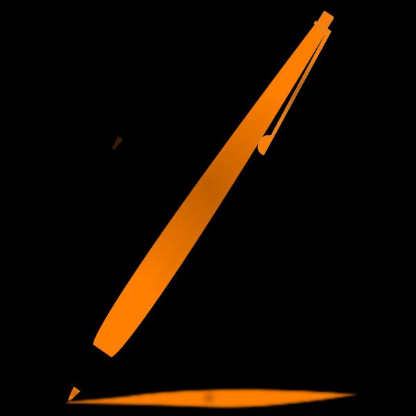 Orange Pencil PNG Clip art