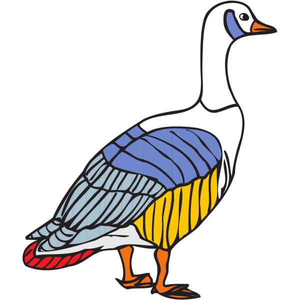 Colorful Goose PNG images