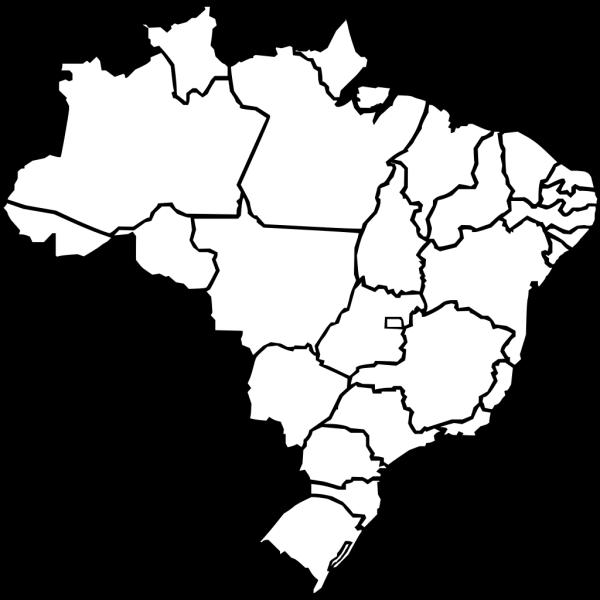 Map Of Brazil PNG Clip art