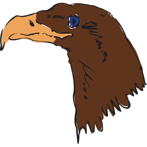 Brown Eagle Head Art PNG icons
