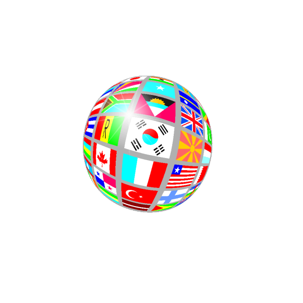Sphere Flags PNG Clip art
