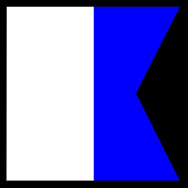 International Maritime Signal Flag Alpha PNG Clip art