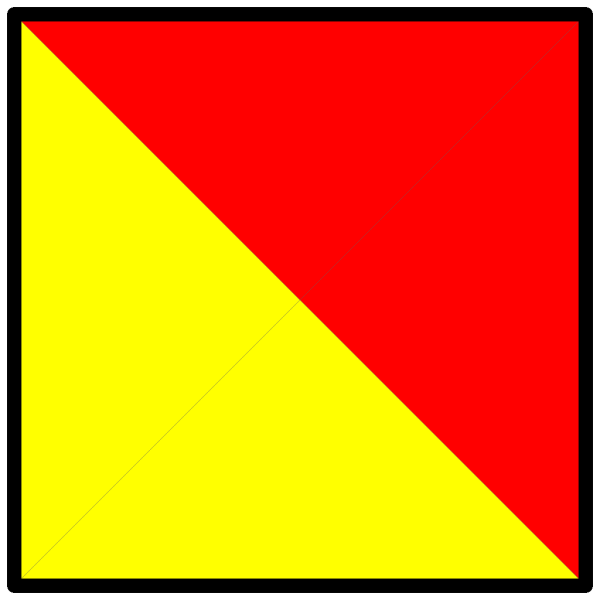 International Maritime Signal Flag Oscar PNG Clip art
