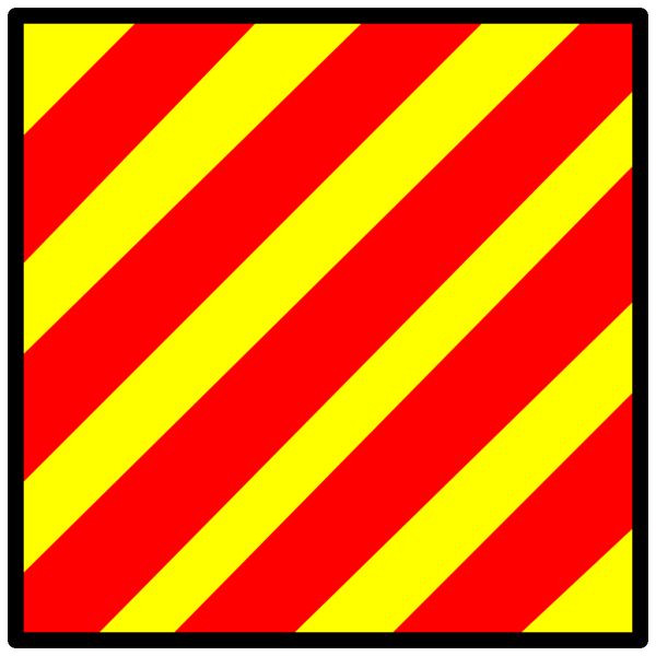 International Maritime Signal Flag Yankee PNG Clip art