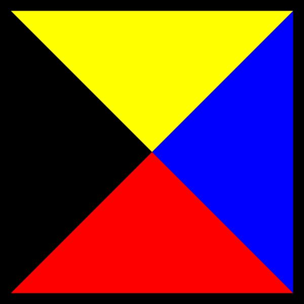 International Maritime Signal Flag Zulu PNG Clip art