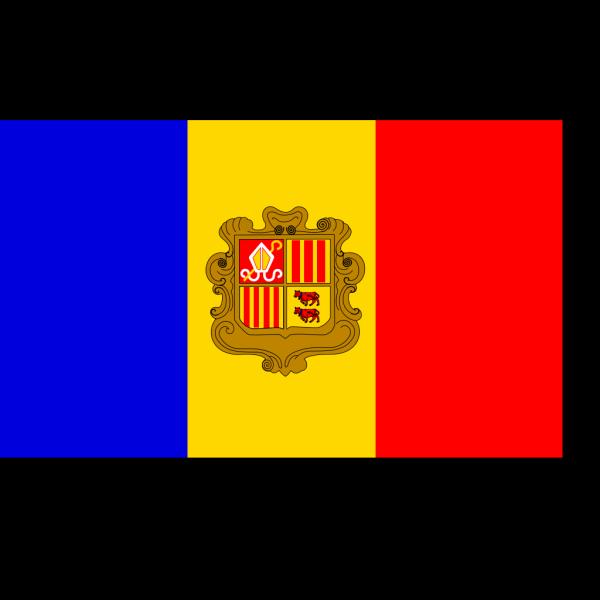 Andorre Flag PNG Clip art