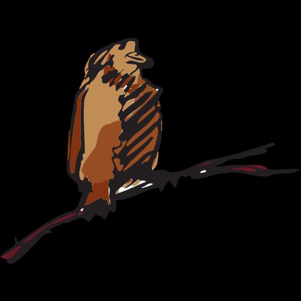 Brown Bird Perched Art PNG Clip art