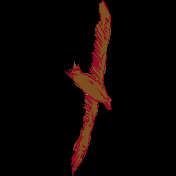 Soaring Brown Bird PNG Clip art
