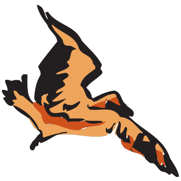 Flying Brown Bird PNG Clip art