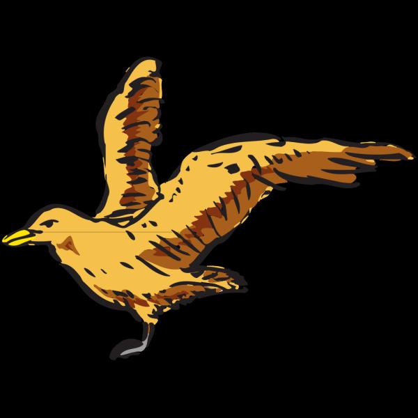 Flying Bird Side View Art PNG Clip art