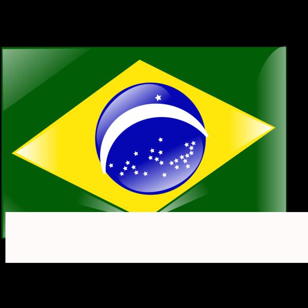 Flag Brazil Crystal PNG Clip art
