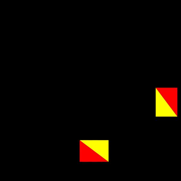 Naval Semaphore Flag F PNG Clip art