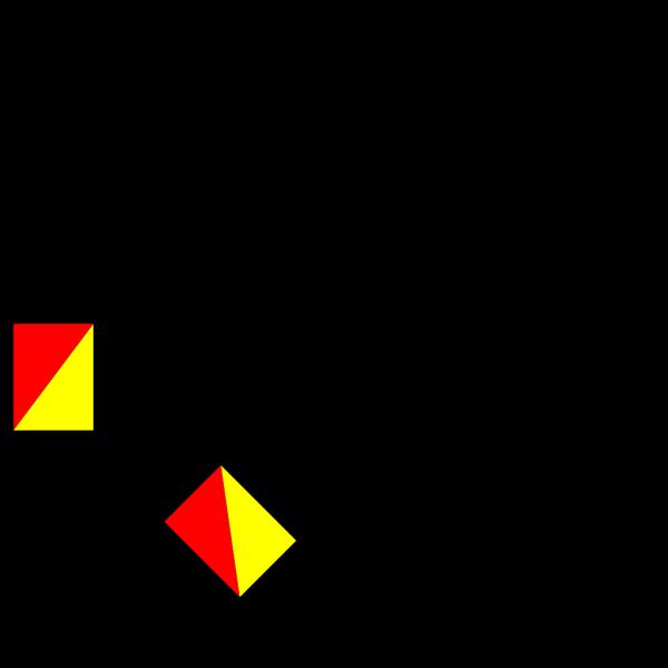 Naval Semaphore Flag H PNG Clip art
