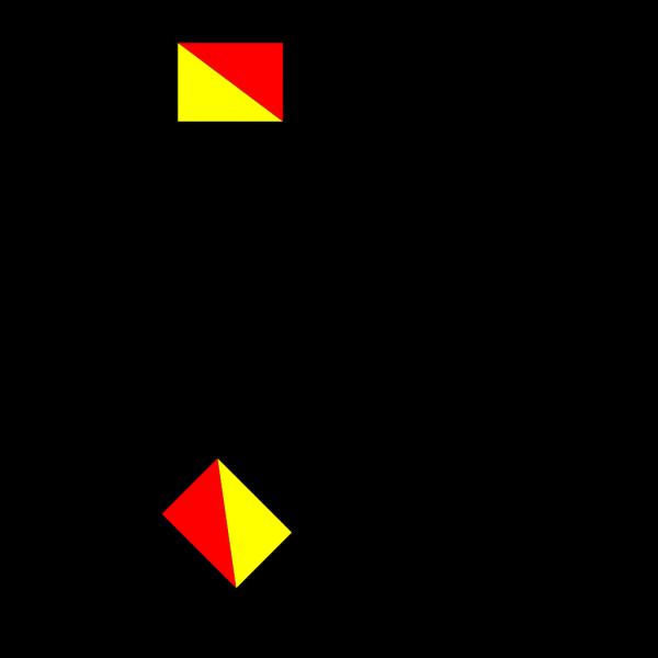 Naval Semaphore Flag I PNG Clip art