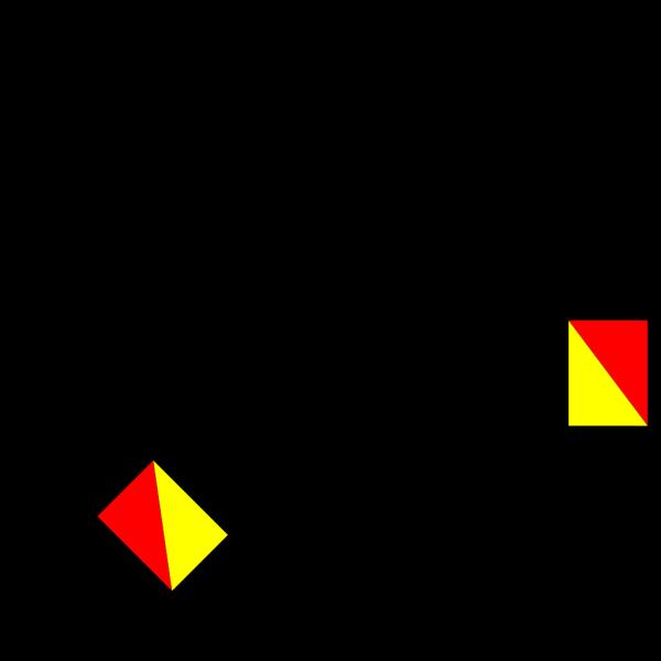 Naval Semaphore Flag M PNG Clip art