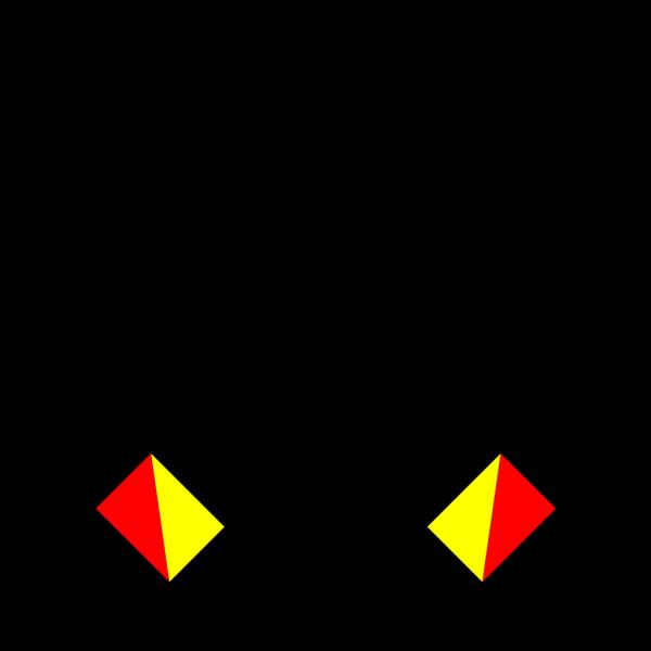 Naval Semaphore Flag N PNG Clip art