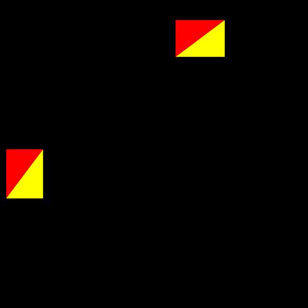 Naval Semaphore Flag P PNG Clip art