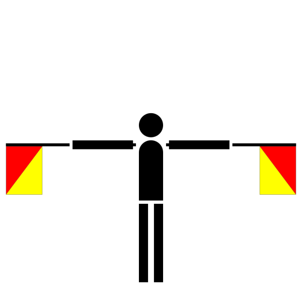 Naval Semaphore Flag R PNG Clip art