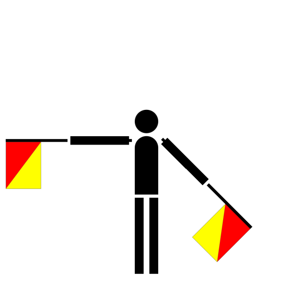 Naval Semaphore Flag S PNG Clip art