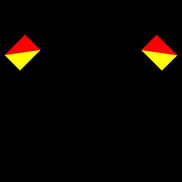 Naval Semaphore Flag U PNG Clip art