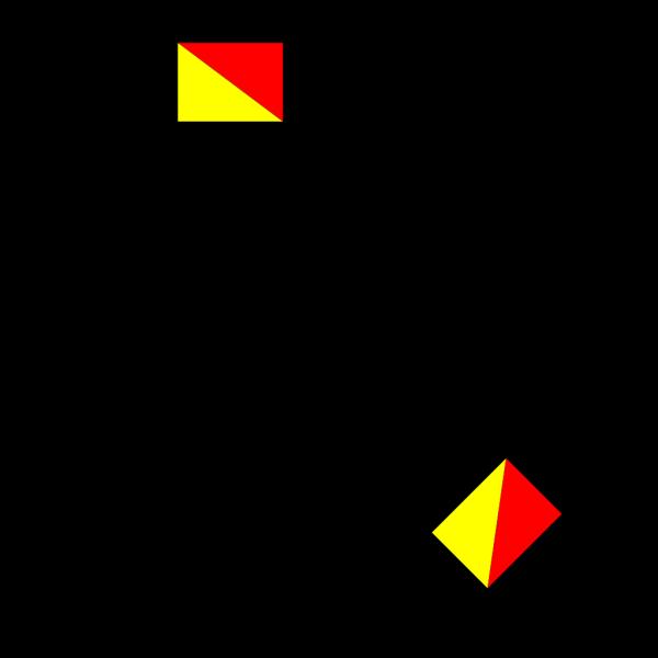 Naval Semaphore Flag V PNG Clip art