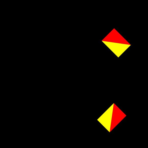 Naval Semaphore Flag X PNG Clip art