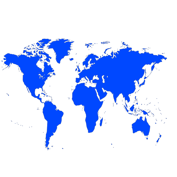 World Map with Grid PNG Clip art