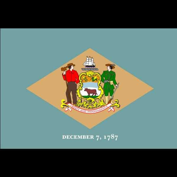 Delaware Flag PNG Clip art