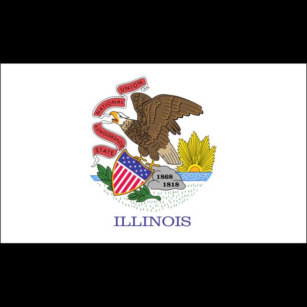 Us Illinois Flag PNG Clip art