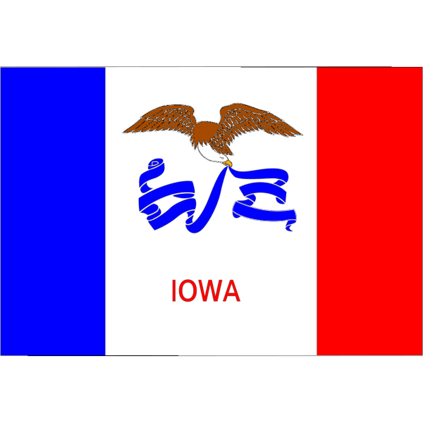 Us Iowa Flag PNG Clip art