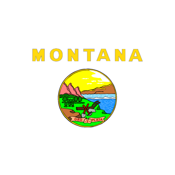 Us Montana Flag PNG Clip art