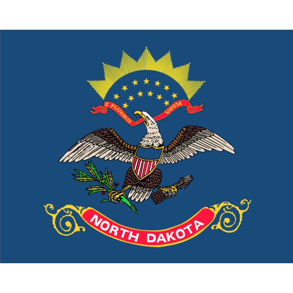 Us North Dakota Flag PNG Clip art