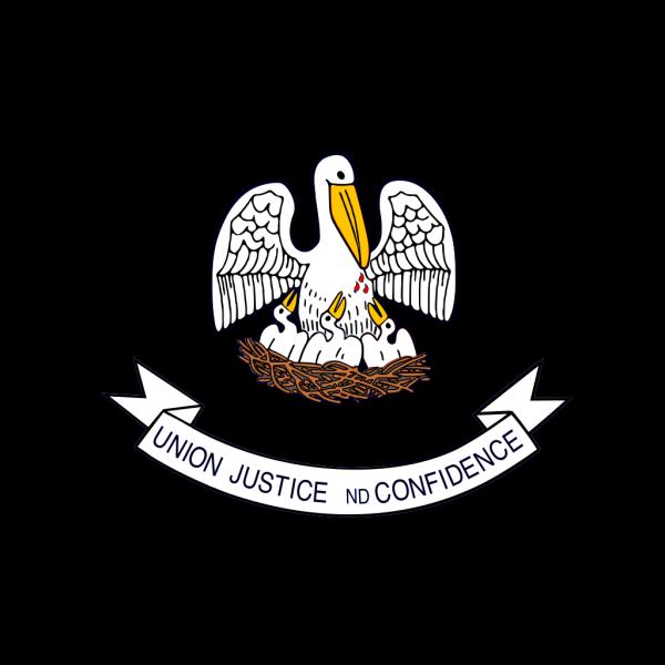 Us Louisiana Flag PNG Clip art