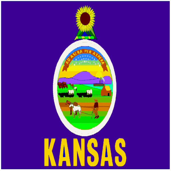 Flag Of Kansas PNG clipart
