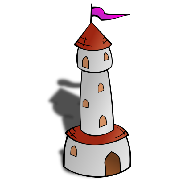 Round Tower With Flag 2 PNG clipart