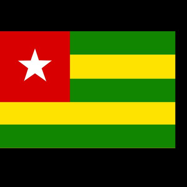 Togo Flag PNG Clip art