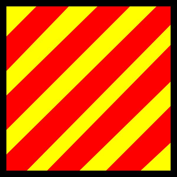 Signal Flag Yankee PNG Clip art