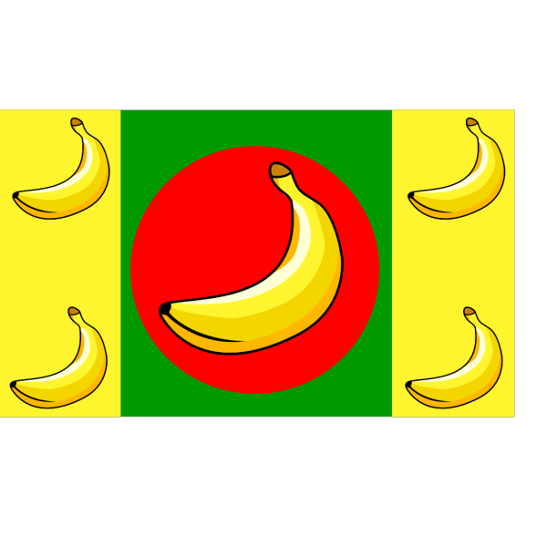 Banana Republic Flag PNG Clip art